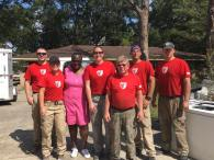 The team finished up the house they started on yesterday. Rose (in pink) appreciated us helping her 82-year-old mother clean out her house.