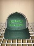 Richardson Low profile snap-back trucker cap in Heather dark green/Light grey
