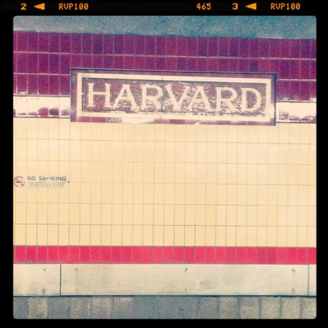 harvard square t station