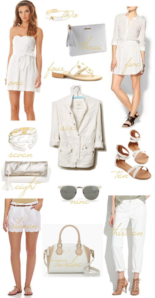 White Color Trend Summer 2014