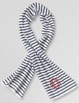 Nautical Striped Monogram Scarf