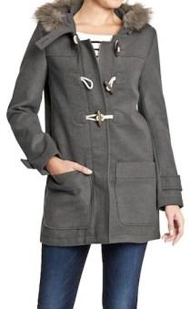 gray toggle coat