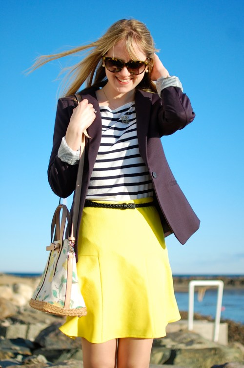 Yellow + Navy Outfit