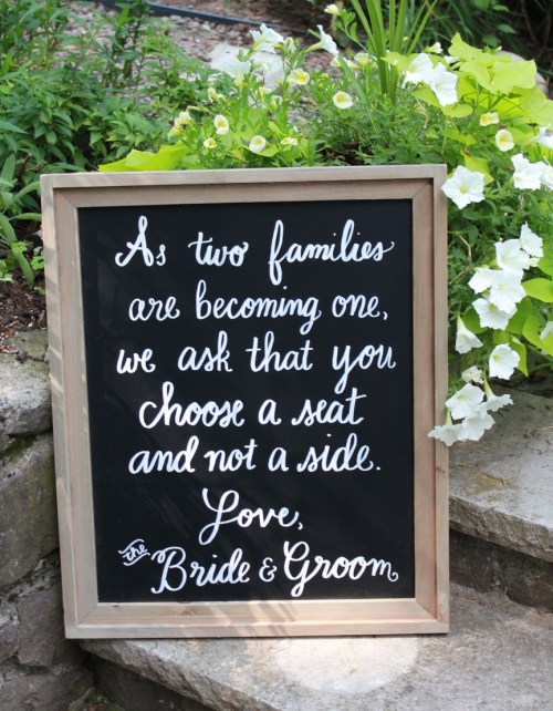 Boston chalkboard wedding signs