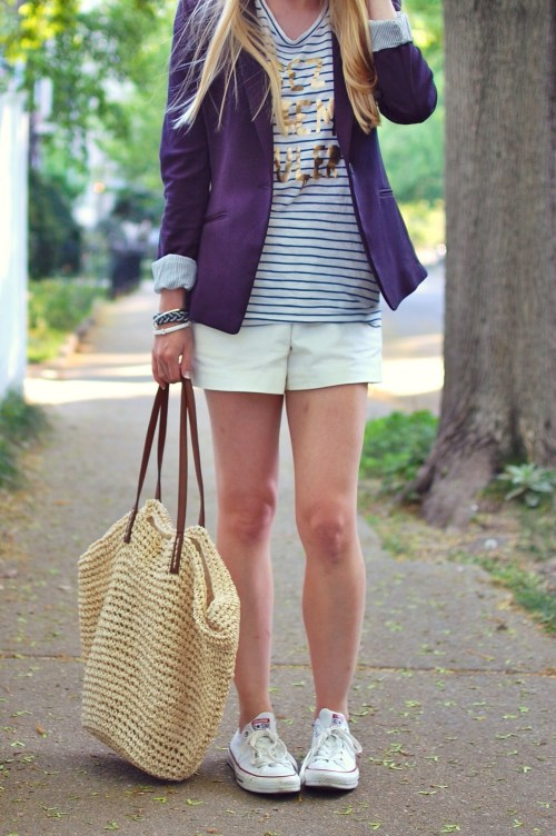 nautical navy blazer