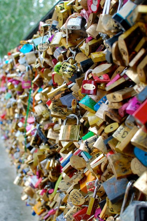 Locks of Love Bridge Paris