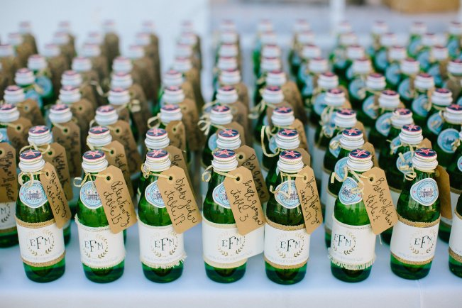 Mini Pellegrino Bottle Escort Cards