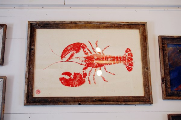 Lobster Gyotaku