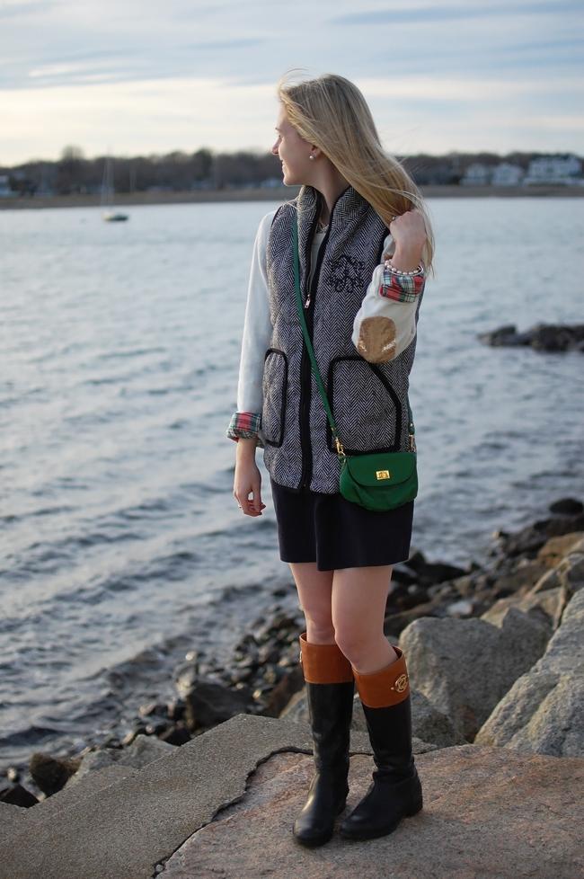 marley lilly herringbone vest