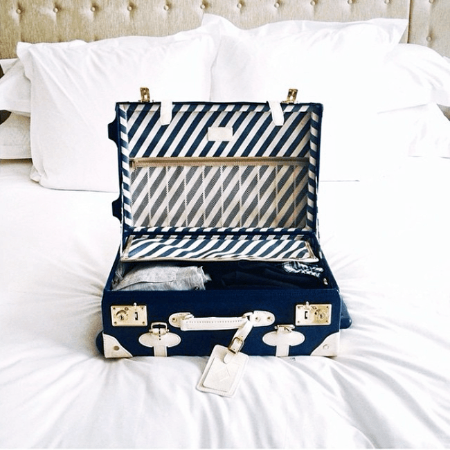 Navy Steamline Luggage