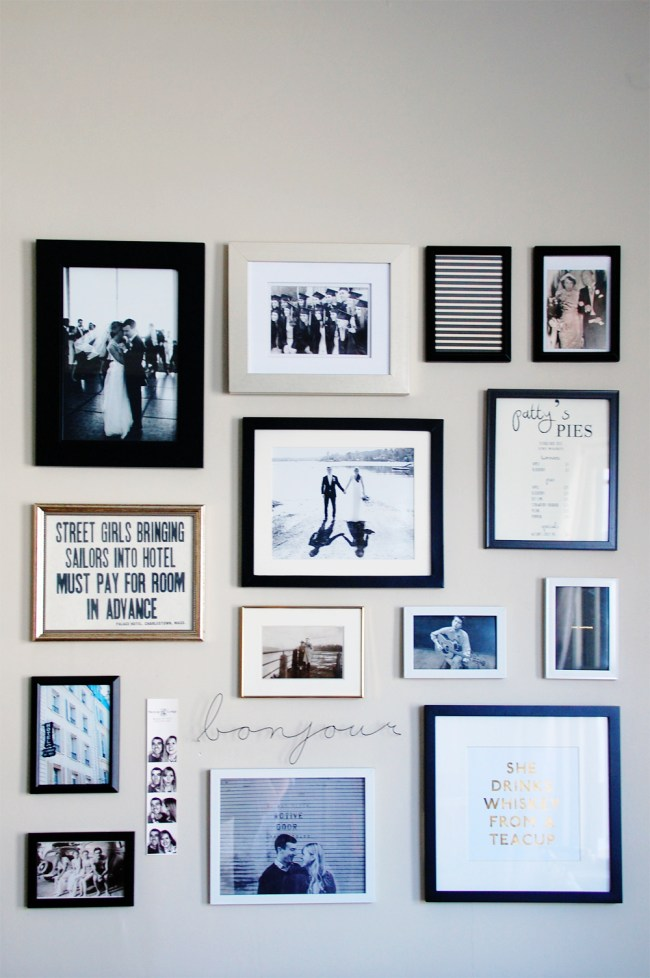 Black White Gold Gallery Wall