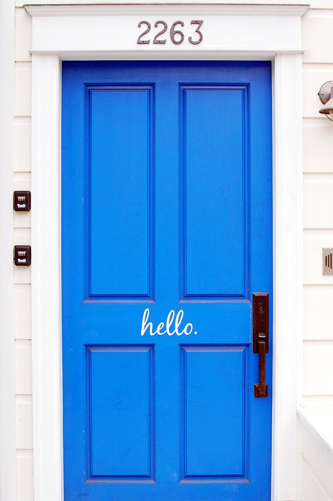Hello Blue Door Pacific Heights