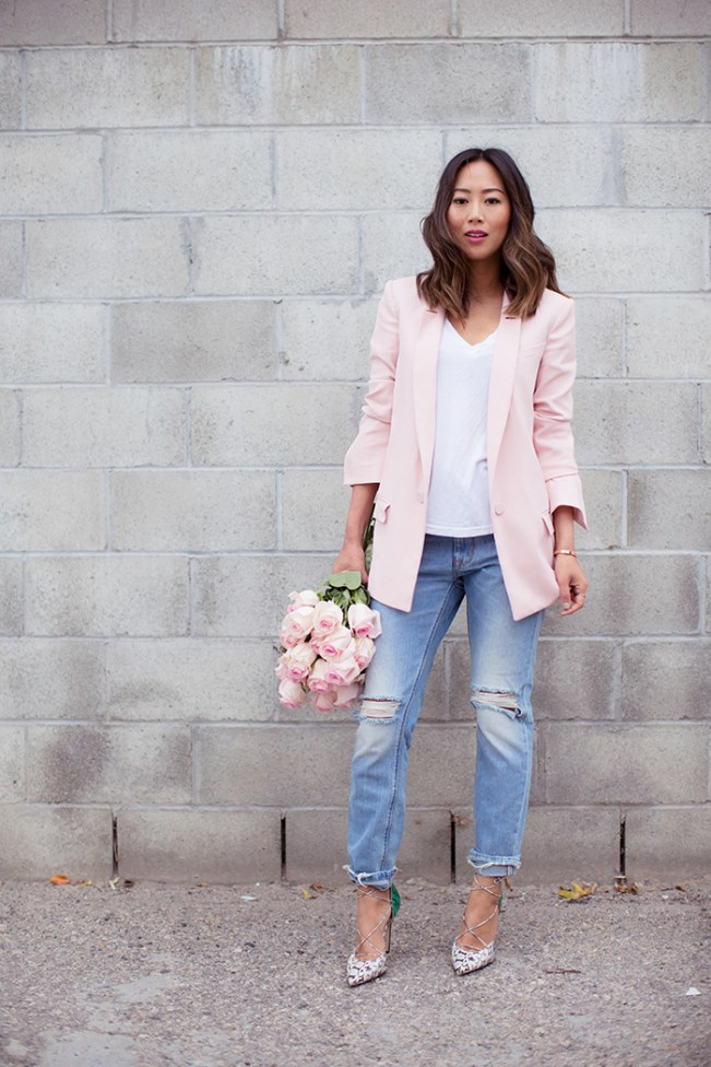 Song of Style | Pink Blazer