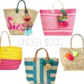 pink straw tote