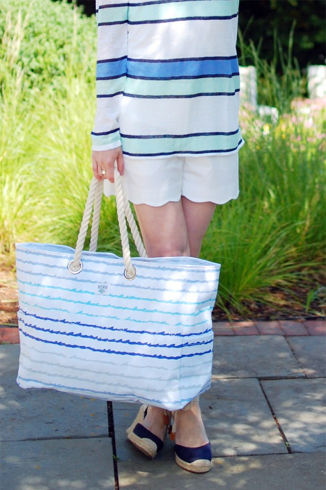 blue ombre bag