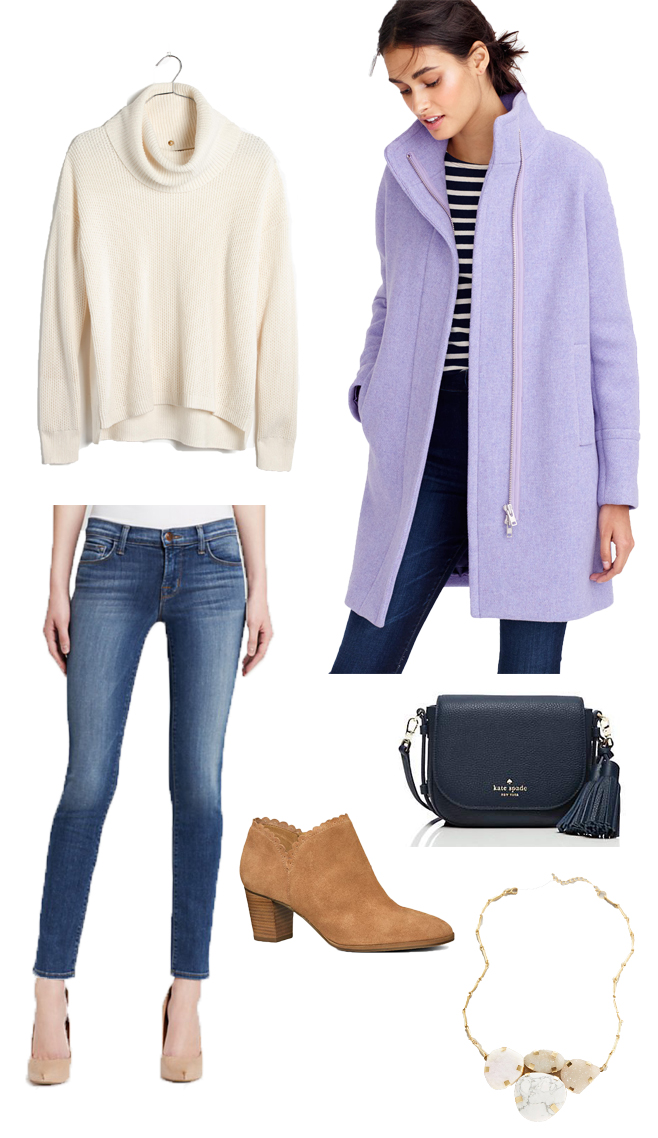 J.Crew French Purple Cocoon Coat