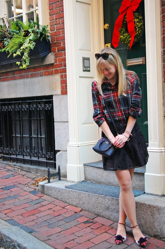 j crew red plaid shirt