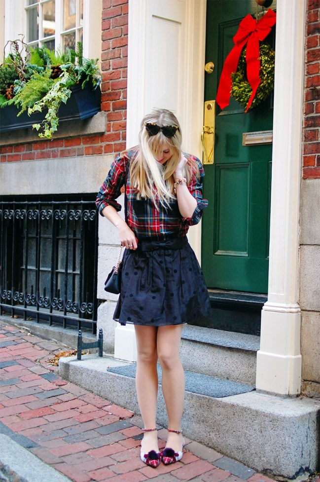 black dot overlay skirt