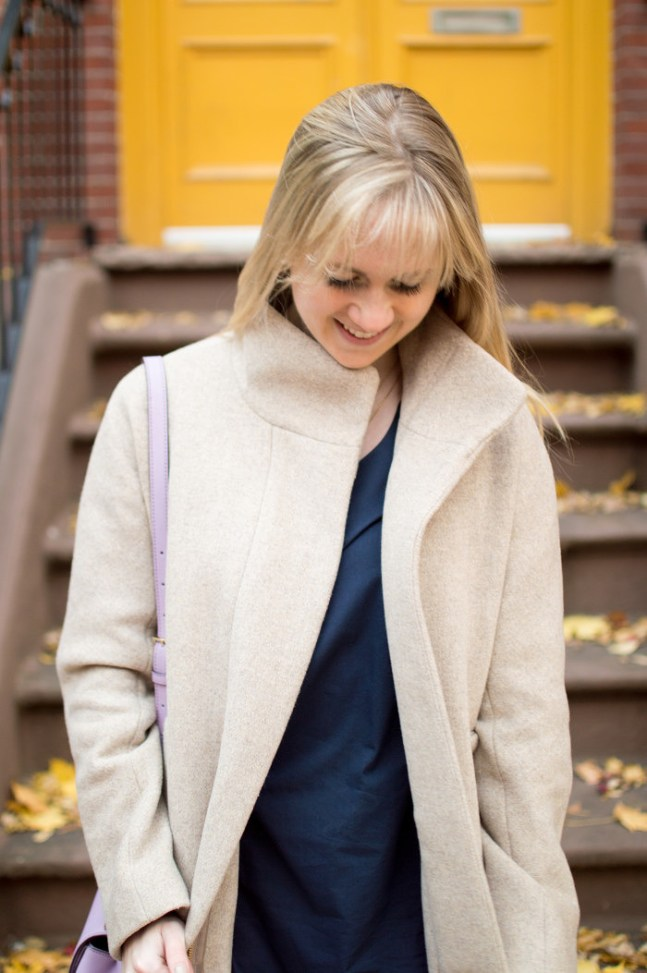j.crew tan cocoon coat