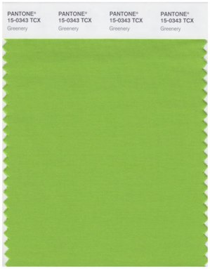 pantone greenery fabric swatch