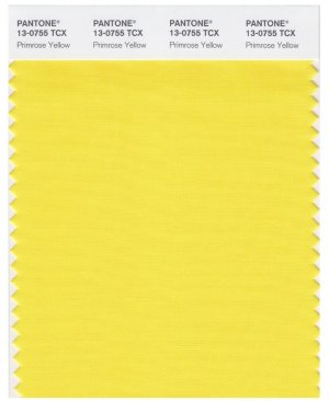 pantone primrose yellow color swatch