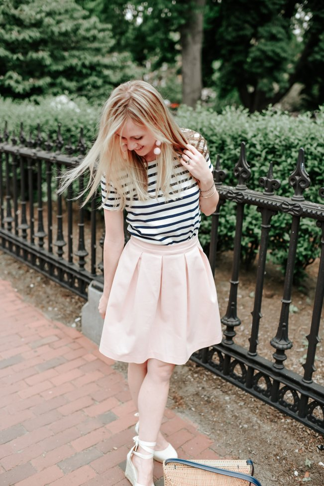 paper crown pink skirt