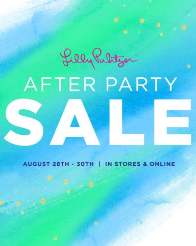 lilly pulitzer after party sale 2017 dates