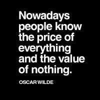 {Wise Words} Price vs. Value
