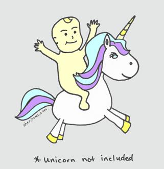 Baby on Unicorn