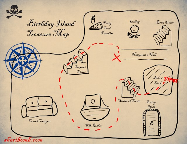 Birthday Party Pirate Treasure Map