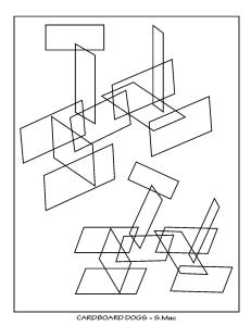 S.Mac's Abstract Coloring Page, Cardboard Dogs