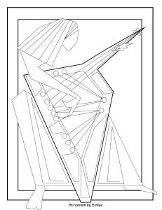 S.Mac's Abstract Coloring Page, Strummm