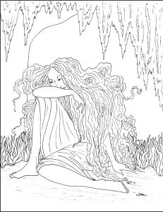 Art nouveau coloring pages s mac 39 s place to be for S mac coloring pages