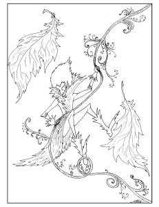 S.Mac's Swinging Elf Coloring Page