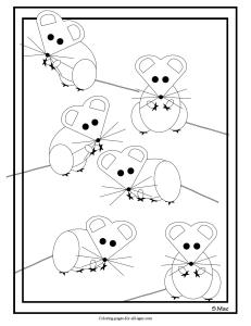 S.Mac's Geo Mice Coloring Page