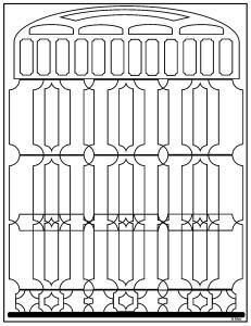 S.Mac's Geometric Coloring Page, Maybe It's a Salt Shaker
