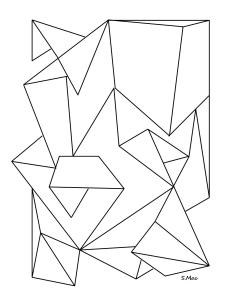 S.Mac's Geometric Coloring Page, Folded