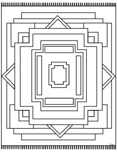 S.Mac's Geometric Coloring Page, Rug