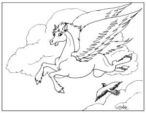 S.Mac's Young Pegasus Coloring Page
