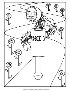 S.Mac's Robot Coloring Page, Robie 1