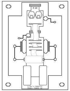 S.Mac's Robot Coloring Page, Robie 10