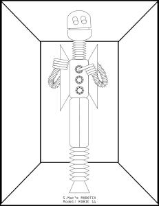 S.Mac's Robot Coloring Page, Robie 11