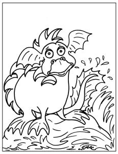 S.Mac's Dragon Art Coloring Page, Silly Sea Serpent