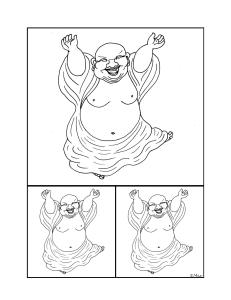 S.Mac's Dancing Buddha Coloring Page