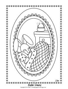 S.Mac's Easter Dreams Coloring Page