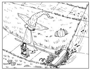 S.Mac's Little Halloween Witch Coloring Page