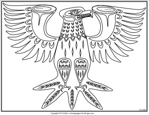 S.Mac's Pacific Northwest Native American Eagle Coloring Page