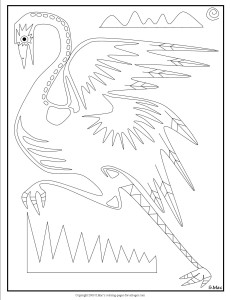 S.Mac's X-ray Art Emu Coloring Page