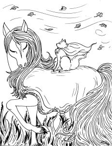 S.Mac's Fantasy Cat with Horse