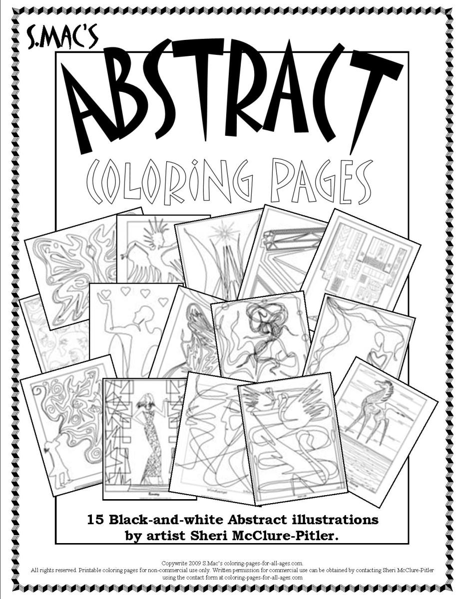 S.Mac\'s Abstract Coloring Pages – Downloadable Coloring Book | S ...